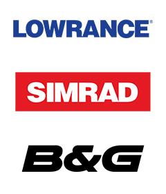 Lowrance Simrad B&G logos for Navico